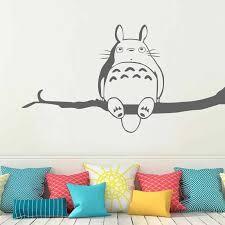 My Neighbor Totoro Vinyl Wall Sticker Inspired Totoro Wall Decal For Children Bedroom Playroom M261 Totoro Wall Decal Wall Decalsvinyl Wall Stickers Aliexpress