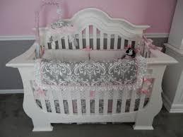 pretty pink and gray princess nursery