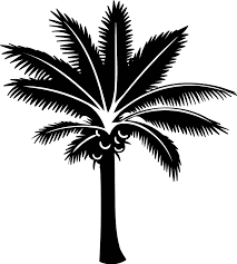 Pink Palm Tree Wall Sticker Tenstickers