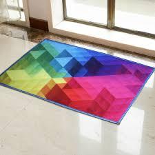 Colorful Rainbow Carpet Rug Mat For Living Room Kids Room Bedroom Wish