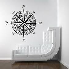 Compass Nautical Vinyl Wall Art Decal Sticker Decor Words Lettering Mural 15