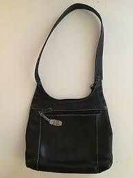 black leather medium shoulder bag purse