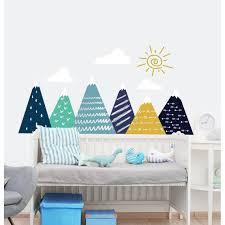 Shop Mountain Wall Decal For Kids Room Overstock 31580597