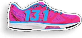 Amazon Com 215 Decals 13 1 Running Shoe Run Vinyl Decal Sticker Grpahic Pink Blue Home Kitchen