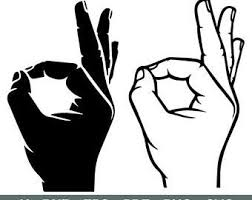 Ok Hand Sign Etsy