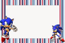 Sonic Invitaciones Para Imprimir Gratis Oh My Fiesta Friki
