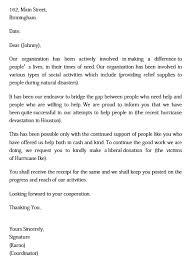 donation request letter unique b
