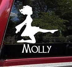 Amazon Com Minglewood Trading Black Irish Dancing Girl V2 With Personalized Name Vinyl Decal Woman Step Dancer Ireland Dance Die Cut Sticker 6w X 6 5h Inches Automotive