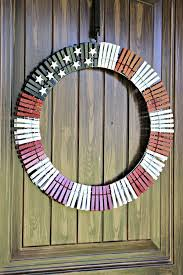 american flag clothes pin wreath quick