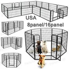 Petpremium Dog Pen Metal Fence Gate Portable Outdoor Rv Play Yard Heavy Duty O For Sale Online Ebay