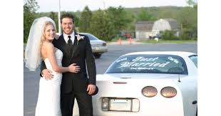 Custom Just Married Decals And Stickers