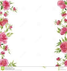 Ejemplo De La Acuarela De Rosas Rojas Y De Hojas Para Las