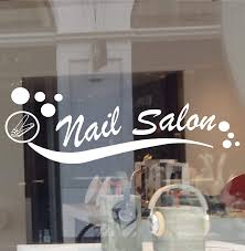 Amazon Com Nail Salon Decal Business Sign Window Manicure Pedicure Wall Clipper Sticker Customize Color And Size Office Products