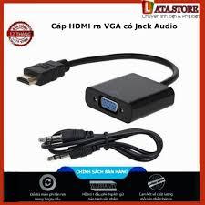 Mã ELCLXU8 hoàn 150k xu đơn 500k] Cáp HDMI ra VGA có Jack Audio