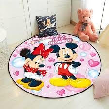 Big Sale 855c8 Disney Mickey Minnie Mouse Rug Children Baby Kids Crawling Game Mat Round Living Room Carpet Indoor Welcome Soft Mat Gift Cicig Co