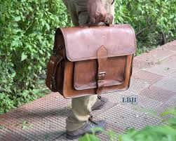 laptop bags for men goat leather bag