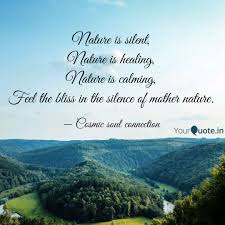 nature is silent nature quotes writings by pooja bhandari