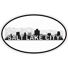 5x3 Oval Salt Lake City Skyline Sticker Luggage Car Bumper Window Decal Walmart Com Walmart Com