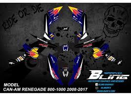 Can Am Renegade 800 1000 Cc 2008 2017 Graphics Kit Factory Design Bl Bling Graphix