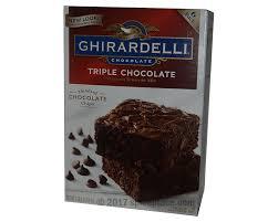 ghirardelli triple chocolate brownie