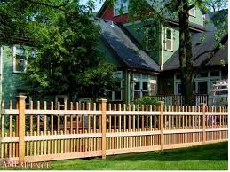 Wood Fence Spaced Picket Styles Wood Fence Fence Design Fence Styles