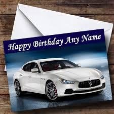 De Personalizado De Tu Propio Maserati Ghibli Cumpleanos Con Texto