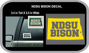 Personalized State Decal Ndsu Bison For Car Window Laptop Computer Cell Phone North Dakota College Sports Te College Sports Laptop Computers Personalised