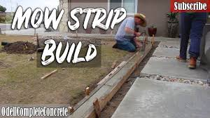 How To Build A Concrete Mow Strip For Lawn And Garden Youtube