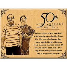 50th golden wedding anniversary present