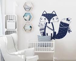 God Tribal Fox Wall Decal Cute Woodland Fox Wall Sticker For Kids Room Nursery Wall Art Tattoo Vinyl Murals Decorating Wall Stickers Decorating With Wall Decals From Joystickers 6 25 Dhgate Com
