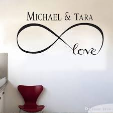 New Personalized Infinity Symbol Love Bedroom Wall Decal Quotes Vinyl Wall Stickers Butterflies Vinly Wall Wear Removable Stickers Wall Word Art From Kity12 6 34 Dhgate Com