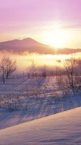 an winter nature snow sunset
