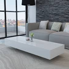 white white high gloss coffee table 115