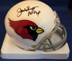 Autographed Signed Jackie Smith St. Louis Cadinals Mini Helmet W/ Coa -  Certified Authentic