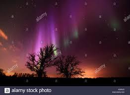 Canadá, Manitoba, Aves Hill Parque Provincial. Aurora Borealis y ...