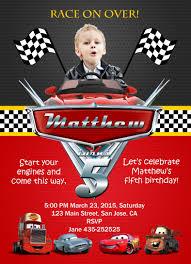Invitacion De Edwin Cars Birthday Invitations Cars Theme