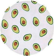 Amazon Com Niyoung Best Play Mat Carpet For Kids Room Decorations Teepee Tent Avocado Repeating Pattern Indoor Area Rug Non Slip 24 Inch Round Mat For Bedroom Living Room Kitchen Nursery And More