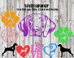 Weimaraner Dog Decal Weim Decal Car Decal Dog Decal Etsy