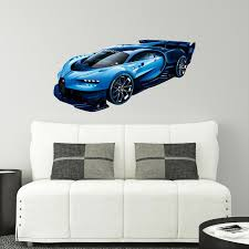 Stick It Graphix Bugatti Chiron Vision Gt Wall Decal Sticker Hyper Car Grand Turismo Kids Room