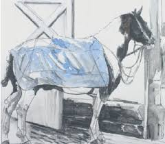 How to draw the horse by Ruth Buchanan   Drawings, Painting tutorial