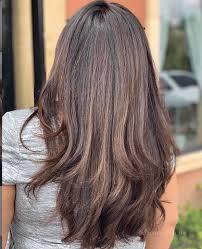 orange tones from bry brown hair