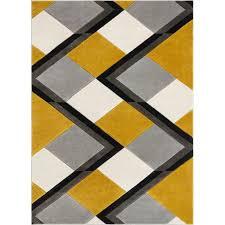 nora geometric gold gray black area rug