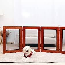 Ndyd Four Solid Wood Folding Vertical Pet Fences Indoor Dog Fence Door Large Medium And Small Dog Protection For The House Doorway Stairs Pet Puppy Safety Fence Dsb Amazon Co Uk Pet Supplies