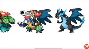 Pokemon Fusion Sprite: Request #54: Mega Charizard X Mega Venusaur Mega  Blastoise - video dailymotion