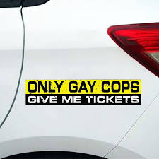 Nakleyki Car Sticker Only Gay Cops Pvc Cars Stickers Funny Auto Decor Accessories Waterproof Decals Buy At A Low Prices On Joom E Commerce Platform