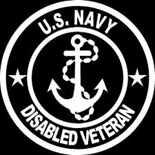 Disabled Us Navy Veteran Vinyl Car Truck Window Decal Sticker Us Seller Telesto Gr