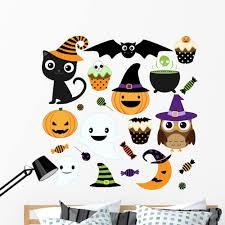 Amazon Com Wallmonkeys Super Kawaii Halloween Set Wall Decal Sticker Set 48 In H X 48 In W Wm335043 Home Kitchen