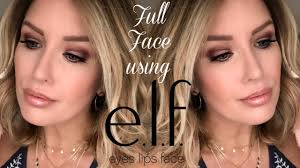 full face using e l f makeup tutorial