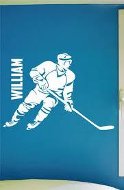 Custom Boys Name Hockey Decal 0288 Personalized Boys Hockey Wall Dec Wall Decal Studios Com