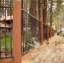 Pin By Yadi On Fence Rail Deck Inspirations Backyard Fences Iron Fence Backyard